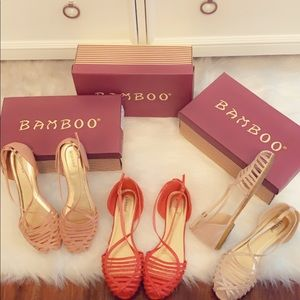 Women's size 9 Lot of 3 Bamboo Sandals